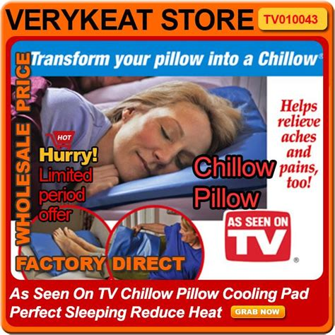 Chillow Pillow As Seen On Tv as seen on tv chillow pillow cooling end 4 7 2018 2 59 pm