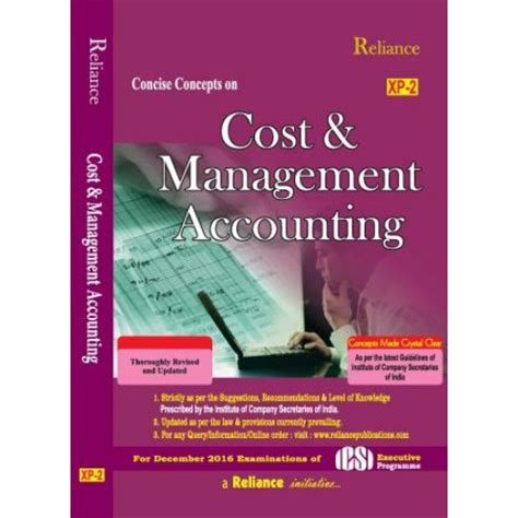 Cost Management Accounting Mba by Cost Management Accounting By Reliance Publications