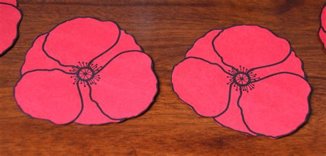 poppy template to cut out cut out poppies craft n home