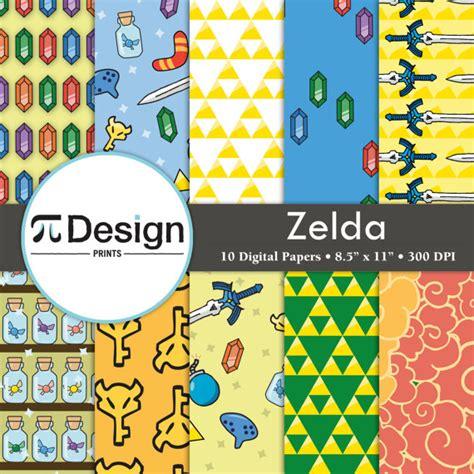paper pattern of vdo zelda inspired 8 5x11 digital paper pack of 10