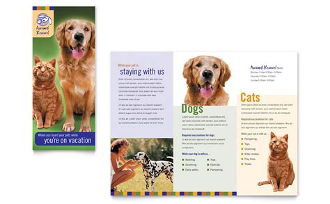 Shelter Insurance Letterhead Kennel Pet Day Care Brochure Template Word Publisher