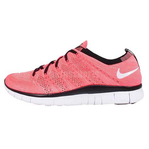 nike free flyknit nsw pink white 2015 mens running shoes