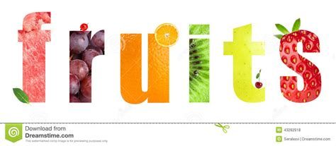 fruit 4 letter word healthy fruits word stock photo image 43282918