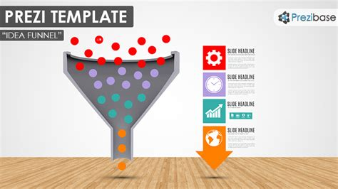3d Idea Funnel Prezi Template Prezibase Prezi Template Ideas