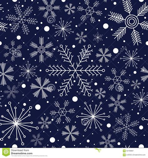 abstract snowflakes seamless pattern background royalty winter seamless pattern with different snowflakes on dark