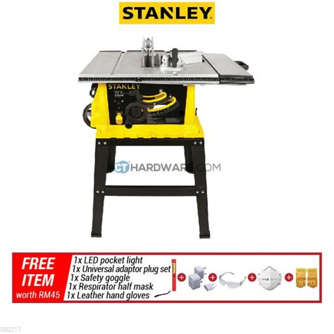 stanley table saw stst 1825 stanley stst1825 1800w 10 quot table saw free gift table