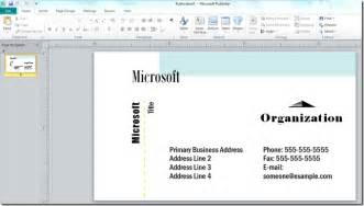 how to print business cards in publisher how to make a business card with microsoft publisher