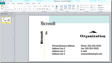 templates for business cards microsoft office word document