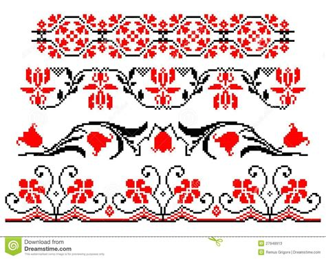 floral pattern cdr romanian traditional floral theme cdr format stock