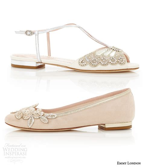 Blush Flat Wedding Shoes by Emmy Wedding Shoes Cancello Bridal Collection