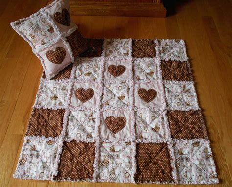 A Rag Quilt With Cotton Fabric by Baby Fabric Pink Brown Rag Quilt Set Blanket