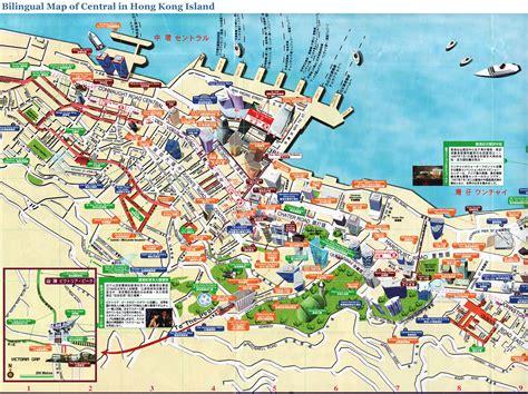 central map hong kong central map detailed hong kong central