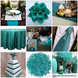 teal weddings on teal teal table and peacock