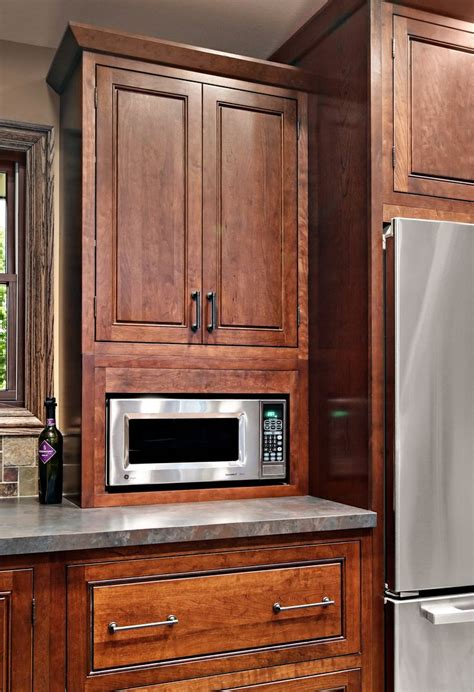 using kitchen microwave cabinet with technology kitchen 32 best images about cherry kitchen cabinets on pinterest
