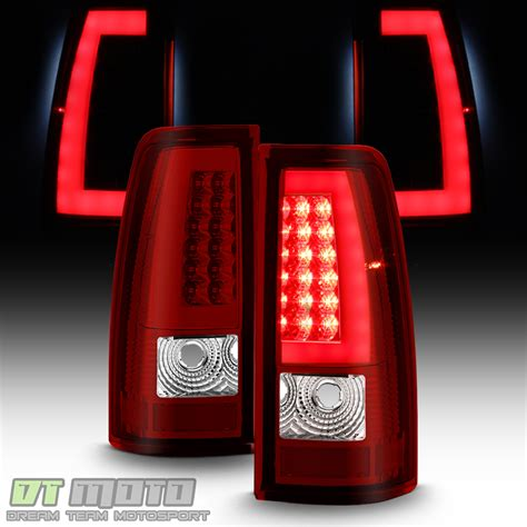 2003 2004 2005 2006 chevy silverado red led tail lights w