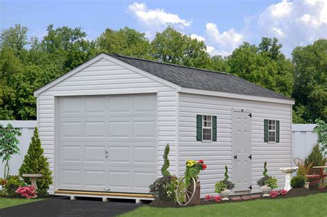 one car garages amish storage sheds wood sheds vinyl storage shed kit prefab vinyl garages pa garden sheds
