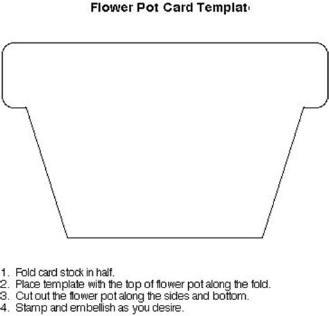 flower pot shaped card template flower pot ideas to try