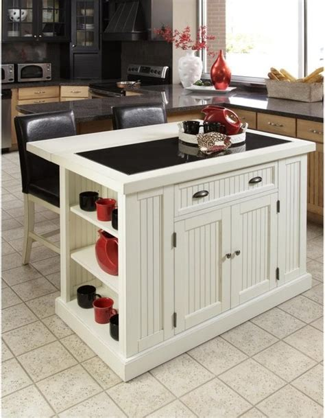 home styles nantucket kitchen island in distressed white home styles nantucket kitchen island with two stools