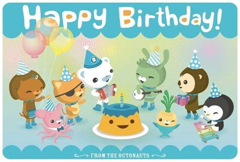 disney jr printable birthday cards 59 best octonauts birthday party ideas images on pinterest