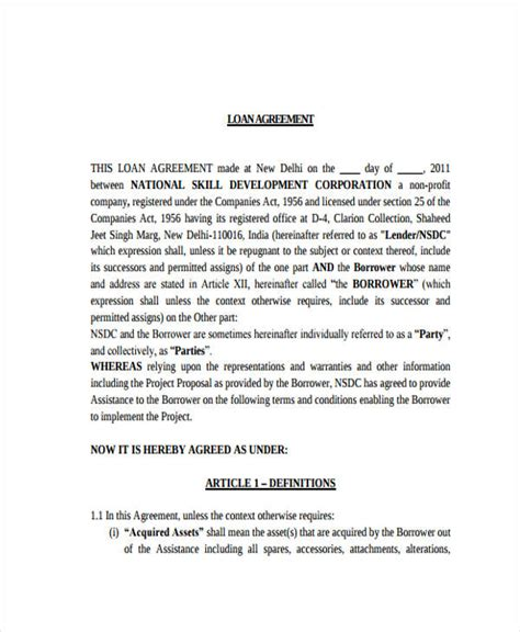Loan Repayment Letter Loan Agreement Form Exle 65 Free Documents In Word Pdf