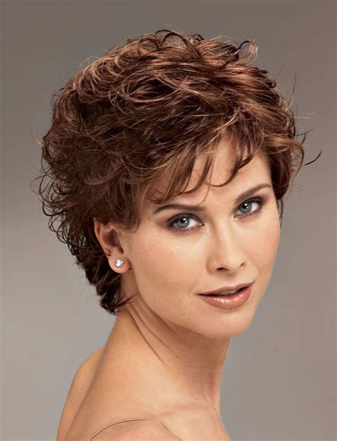short curly hairstyles above the ear curly short hairstyles for older women over 50 best