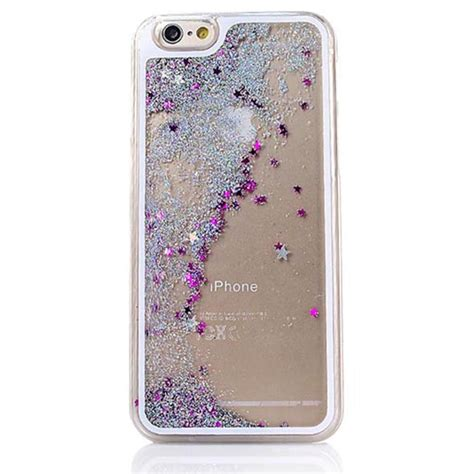 Iphone 5 5s 6 6s 6 7 Glitter Dynamic Liquid Glitter Clear Cover For