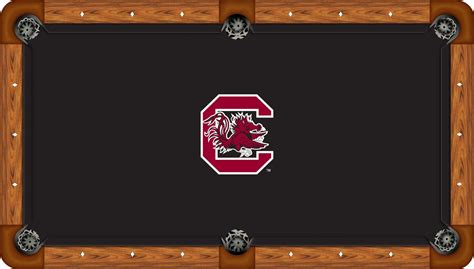 south carolina gamecocks 9 pool table felt pool table