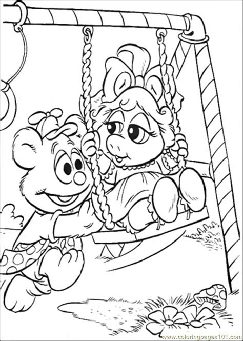coloring pages the baby swings cartoons gt muppet babies