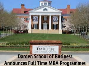 Uva Executive Mba Requirements by Darden School Of Business Announces Time Mba