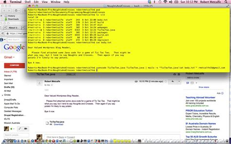 pattern java email java command line email primer tutorial robert james