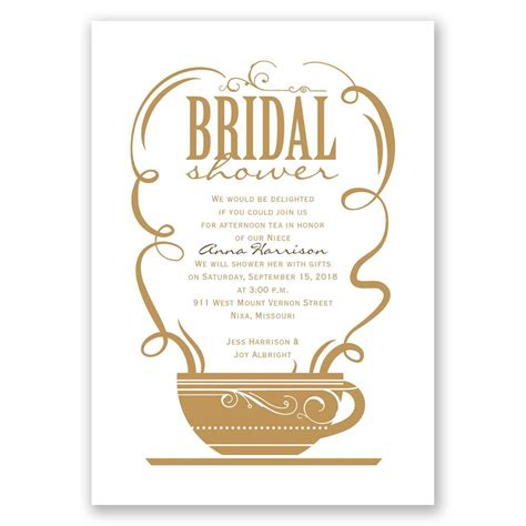 Who Gets Invited To A Bridal Shower by Coffee Talk Bridal Shower Invitation Invitations By