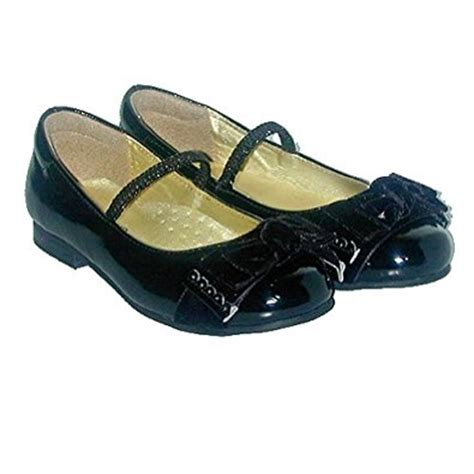 toddler black patent bow dress slipper