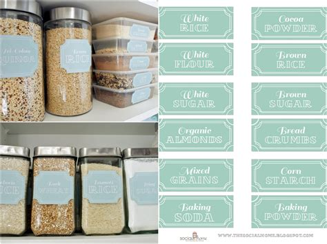 Pantry Labels Template by Labels To Live Simply By