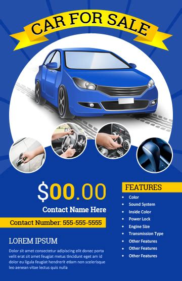 Car For Sale Flyer Templates For Ms Word Word Excel Templates Car Advertisement Template