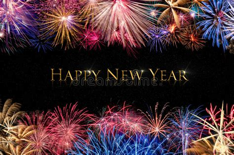 new year display borders happy new year fireworks display stock image image 61866515