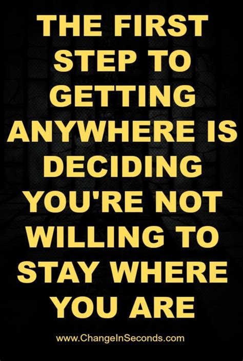 deciding where to stay at fitness motivation the step to anywhere is