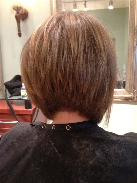 reverse wedge haircut back view reverse bob hairstyle back view short hairstyle 2013