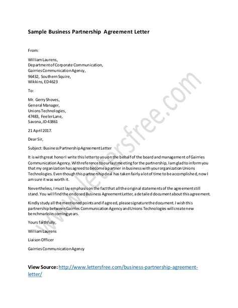 letter of intent business agreement sle business agreement letter doc 28 images contract