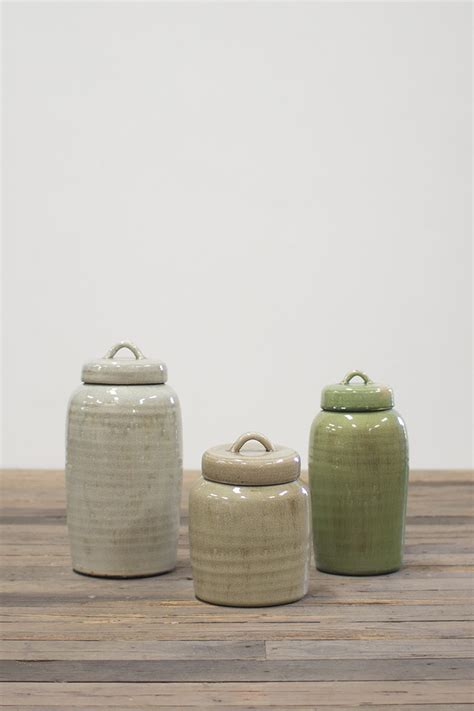 kitchen canisters ceramic sets set of three ceramic canisters