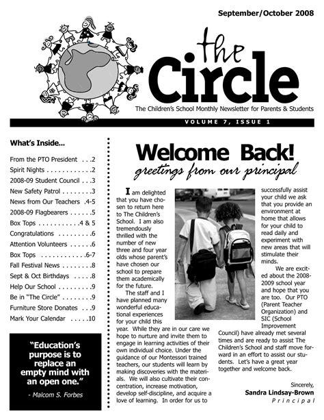 high school newsletter template best photos of school newsletter templates free