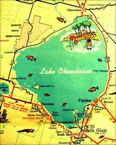 map of lake okeechobee florida discover and save creative ideas