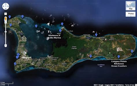 grand interactive map a different look at grand cayman fka kiteboarding forums
