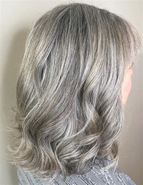 pretty gray midlength hair 60 gorgeous hairstyles for gray hair