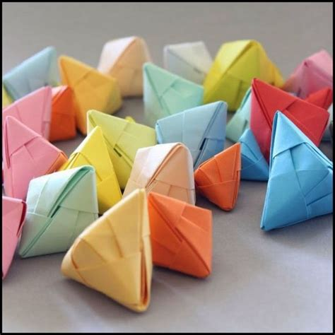 Origami Fortune Cookies - diy origami fortune cookies and shower ideas