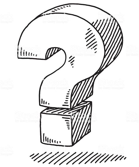 Question Drawing bold question sign drawing stock vector more