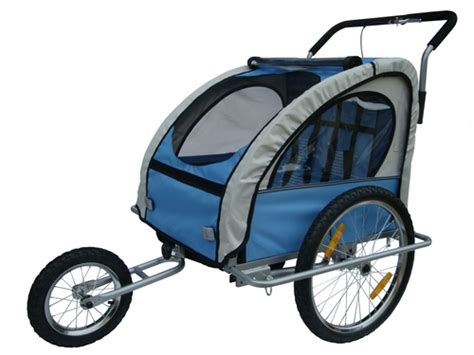 blue trailer portugues new blue 2 in 1 baby bicycle bike trailer child