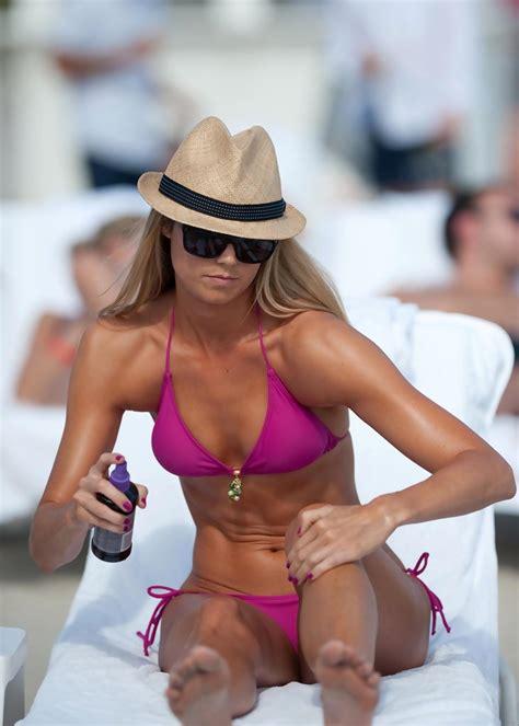 stacy keibler today stacy keibler showing off her bikini body in miami zimbio