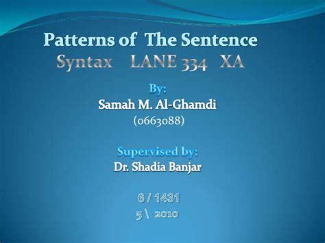 sentence pattern changer patterns of sentence by samah m 1 pptx