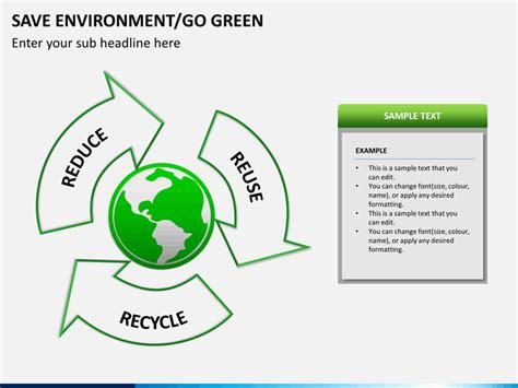 Save Environment Go Green Powerpoint Template Sketchbubble Where To Save Powerpoint Templates