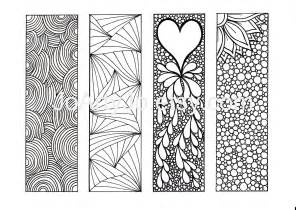 coloring bookmarks bookmarks to color diy zentangle inspired printable digital
